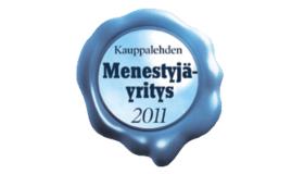 Award - Kauppalehti Menestyjäyritys 2011